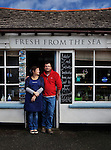 Calum and his wife Tracey, who own and run the 'Fresh from the Sea' Fish Shop in Port Isaac, Cornwall, U.K.<br />