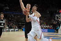 China&rsquo;s Rui Zhao in action during the FIBA World Cup Basketball Qualifier - NZ Tall Blacks v China at Spark Arena, Auckland, New Zealand on Sunday 1 July 2018.<br /> Photo by Masanori Udagawa. <br /> www.photowellington.photoshelter.com