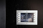 © Joel Goodman - 07973 332324 . 24 June 2013 . Orchid Suite , Beetham Tower , Manchester , UK . Control panel for high-end lighting system installed in all rooms . Former triplex apartment home of Phil and Julie Neville , which is up for rent and thought to be the most expensive in Manchester . Photo credit : Joel Goodman