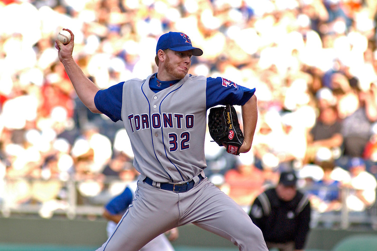 Toronto RHP Roy Halladay starts and gets the win against the Royals at Kauffman Stadium in Kansas City, Mo., on May 17, 2003. The Blue Jays won 7-4.