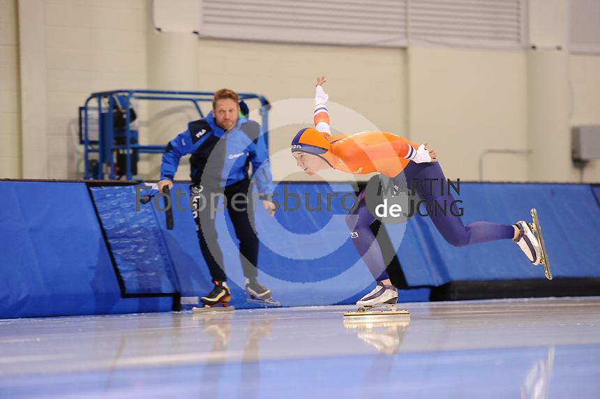 SPEEDSKATING: SALT LAKE CITY: 06-12-2017, Utah Olympic Oval, ISU World Cup, training, Janneke Ensing (NED), photo Martin de Jong