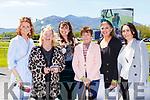Hlen English, Pauline McSweeney, Maura Fitzgerald, Pauline Twidd, Deirdre O'Mahony, and Paula Twiss Killorglin at the Killarney Races on Sunday