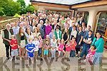Ted and Marion Kennelly, Knockananligh, Castleisland pictured with family and friends as they celebrated their 50th wedding anniversary in Fossa on Sunday.