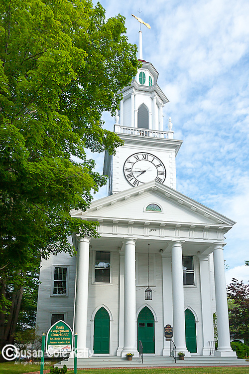 The South Congregational Church in Kennebunkport, Maine, USA