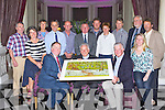 Killarney Rotary presents former Bishop of Kerry Bill Murphy a painting by Killarney artist Helena Brunicardi titled Wild Garden Knockreer Killarney in recognition of his recent retirement in the Malton Hotel on Wednesday afternoon front row Angela O'Connor, Paul Sheery President, Bishop Bill Murphy, James Tarrant and Ciara Irwin Foley. back row: Barry Murphy, Grace O'Neill, Finbarr Kennelly, Conor Griffin, Con Keane, Tom Leslie, Katie O'Connell, Geert Maes, Eduard  Schmidt Zorner and John O'Sullivan
