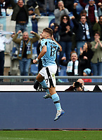 Football, Serie A: S.S. Lazio - Spal, Olympic stadium, Rome, February 2, 2020. <br /> Lazio's captain Ciro Immobile celebrates after scoring his second goal in the match during the Italian Serie A football match between S.S. Lazio and Spal at Rome's Olympic stadium, Rome , on February 2, 2020. <br /> UPDATE IMAGES PRESS/Isabella Bonotto