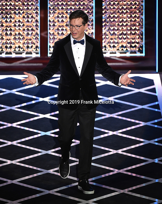 "BEVERLY HILLS - SEPTEMBER 7: Roast Master Sean Hayes appears onstage at the ""Comedy Central Roast of Alec Baldwin"" at the Saban Theatre on September 7, 2019 in Beverly Hills, California. (Photo by Frank Micelotta/PictureGroup)"