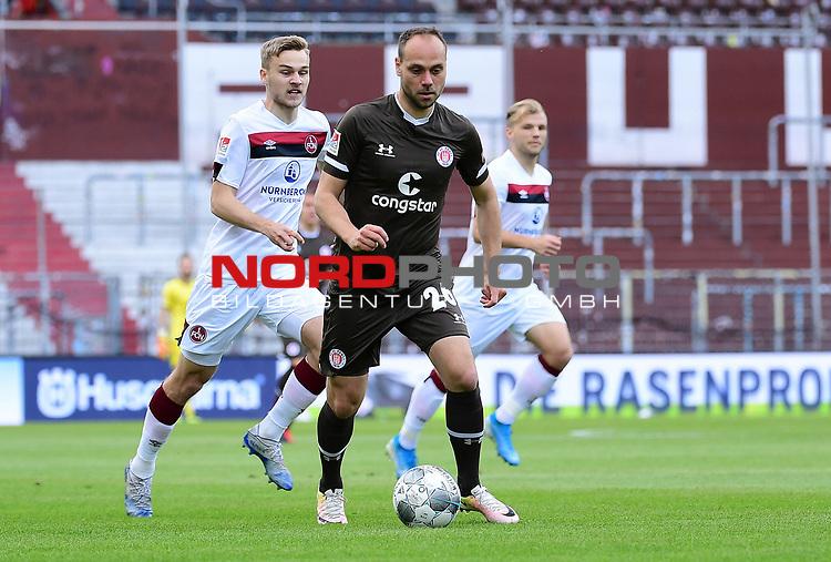 nph00001  v.l. Tim Handwerker, Rico Benatelli (St. Pauli)<br /> Hamburg, 17.05.2020, Fussball 2. Bundesliga, FC St. Pauli - 1. FC Nuernberg <br /> <br /> Foto: Tim Groothuis/Witters/Pool//via Kokenge/nordphoto
