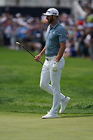 Dustin Johnson (USA) on the 1st fairway during the final round at the PGA Championship 2019, Beth Page Black, New York, USA. 20/05/2019.<br /> Picture Fran Caffrey / Golffile.ie<br /> <br /> All photo usage must carry mandatory copyright credit (© Golffile | Fran Caffrey)