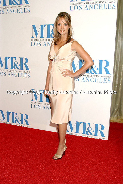 Eva La Rue.Museum of TV & Radio Annual Gala IHO Les Moonves and Jerry Bruckheimer.Regent Beverly Wilshire Hotel.Beverly Hills, CA.October 30, 2006.©2006 Kathy Hutchins / Hutchins Photo....