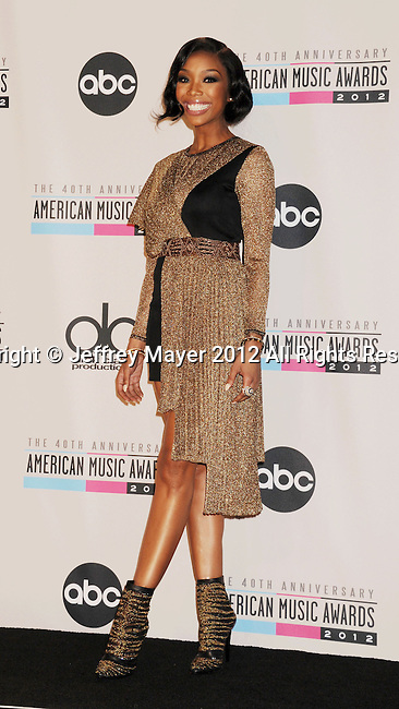 LOS ANGELES, CA - NOVEMBER 18: Brandy Norwood  poses in the press room at the 40th Anniversary American Music Awards held at Nokia Theatre L.A. Live on November 18, 2012 in Los Angeles, California.
