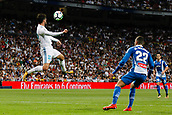 1st October 2017, Santiago Bernabeu, Madrid, Spain; La Liga football, Real Madrid versus Espanyol; Francisco Roman Alarcon (22) Real Madrid wins the towering header