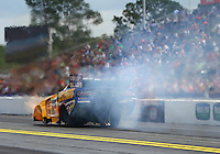 Mar 20, 2016; Gainesville, FL, USA; NHRA funny car driver Ron Capps during the Gatornationals at Auto Plus Raceway at Gainesville. Mandatory Credit: Mark J. Rebilas-USA TODAY Sports