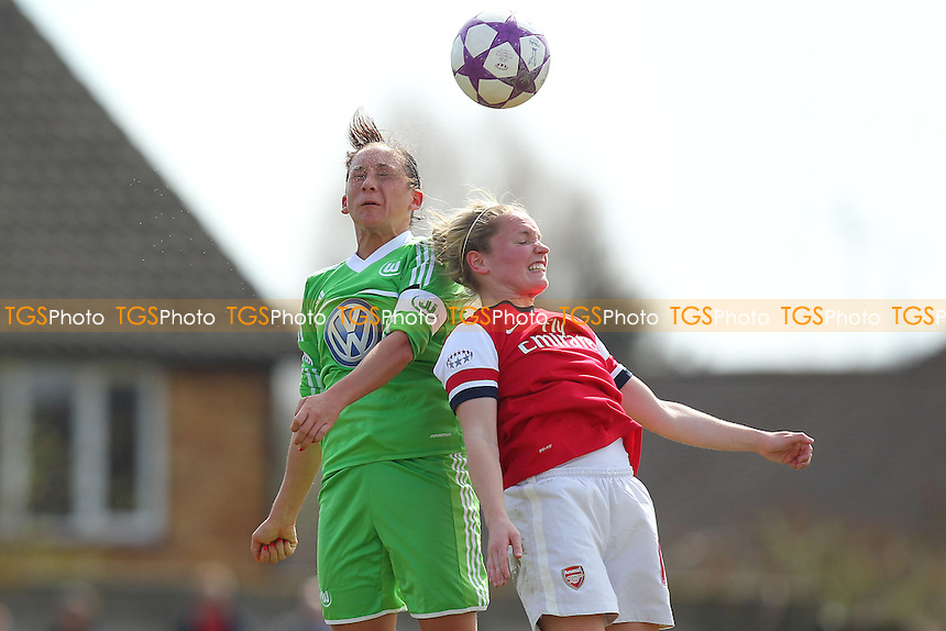 Kim Little in action for Arsenal - Arsenal Ladies vs VfL Wolfsburg - UEFA Womens Champions League Semi-Final 1st Leg Football at Boreham Wood FC - 14/04/13 - MANDATORY CREDIT: Philip Sharkey/TGSPHOTO - Self billing applies where appropriate - 0845 094 6026 - contact@tgsphoto.co.uk - NO UNPAID USE.