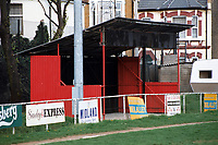 Covered area at Clapton FC Football Ground, Old Spotted Dog, Upton Park, London, pictured on 30th March 1996