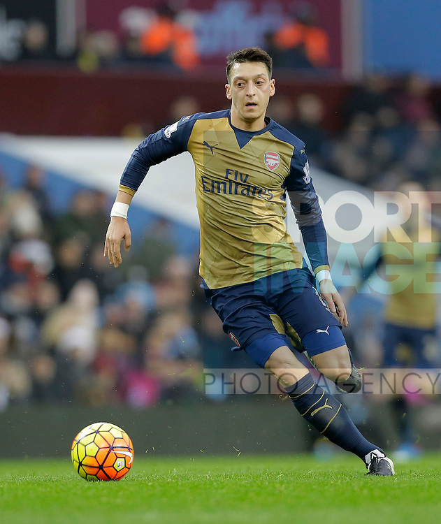 Mesut Ozil of Arsenal - Football - Barclays Premier League - Aston Villa vs Arsenal - Villa Park Birmingham - 13th December 2015 - Season 2015/2016 - Photo Malcolm Couzens/Sportimage