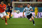 Ron Vlaar (NED), Lionel Messi (ARG),<br /> JULY 9, 2014 - Football / Soccer : FIFA World Cup 2014 semi-finals match between Netherlands and Argentina at Arena de Sao Paulo in Sao Paulo Brazil.<br /> (Photo by FAR EAST PRESS/AFLO)