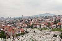 Kovaci Cemetery, one of the martyr's cemetery from the 1992-1995 siege of Sarajevo.