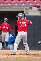Jack Conley (15) of Leesville Road High School in Raleigh, North Carolina playing for the Boston Red Sox scout team at the South Atlantic Border Battle at Doak Field on November 1, 2014.  (Brian Westerholt/Four Seam Images)