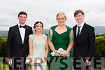 Pictured at the Presentation Tralee Debs ball at the Ballyroe Heights Hotel on Thursday, were, from l-r Stephen Jeffers, Eden Abrahams, Sarah Barry and Cián Kennedy