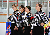 WINKLER, MB– Nov 6 2019: Game 7 - Team Ontario Red v Team Alberta during the 2019 National Women's Under-18 Championship at the Winkler Arena in Winkler, Manitoba, Canada. (Photo by Matthew Murnaghan/Hockey Canada Images)