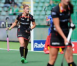 The Hague, Netherlands, June 05: Stephanie De Groof #5 of Belgium looks on during the field hockey group match (Women - Group A) between Belgium and Australia on June 5, 2014 during the World Cup 2014 at Kyocera Stadium in The Hague, Netherlands. Final score 2:3 (1:1) (Photo by Dirk Markgraf / www.265-images.com) *** Local caption ***