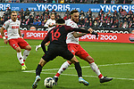 30.11.2019, Rheinenergiestadion, Köln, GER, DFL, 1. BL, 1. FC Koeln vs FC Augsburg, DFL regulations prohibit any use of photographs as image sequences and/or quasi-video<br /> <br /> im Bild v. li. im Zweikampf Ruben Vargas (#16, FC Augsburg) Marco Höger / Hoeger (#6, 1.FC Köln / Koeln) <br /> <br /> Foto © nordphoto/Mauelshagen