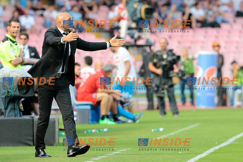 Luciano Spalletti Roma,<br /> Napoli 15-10-2016  Stadio San Paolo <br /> Campionato Serie A Napoli - AS Roma <br /> Foto Cesare Purini / Insidefoto