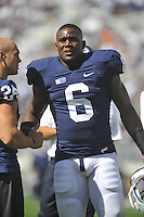 15 September 2012:  Penn State LB Gerald Hodges (6)..The Penn State Nittany Lions defeated the Navy Midshipmen 34-7 at Beaver Stadium in State College, PA..