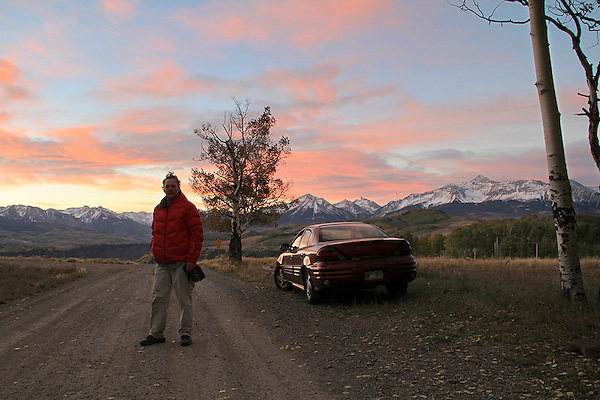 My motel room. Gotta sleep where the action is. Along the Last Dollar Road near Telluride, Colorado.