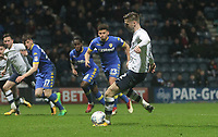 Preston North End's Paul Gallagher scores his sides first goal   from a penalty<br /> <br /> Photographer Mick Walker/CameraSport<br /> <br /> The EFL Sky Bet Championship - Preston North End v Leeds United - Tuesday 10th April 2018 - Deepdale Stadium - Preston<br /> <br /> World Copyright &copy; 2018 CameraSport. All rights reserved. 43 Linden Ave. Countesthorpe. Leicester. England. LE8 5PG - Tel: +44 (0) 116 277 4147 - admin@camerasport.com - www.camerasport.com