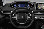 Car pictures of steering wheel view of a 2017 Peugeot 5008 GT Line 5 Door SUV
