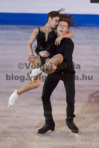 Elena Ilinykh and Nikita Katsalapov of Russia silver medalist in the Ice Dance competition perform during the gala exhibition of the ISU European Figure Skating Championships in Budapest, Hungary on January 19, 2014. ATTILA VOLGYI