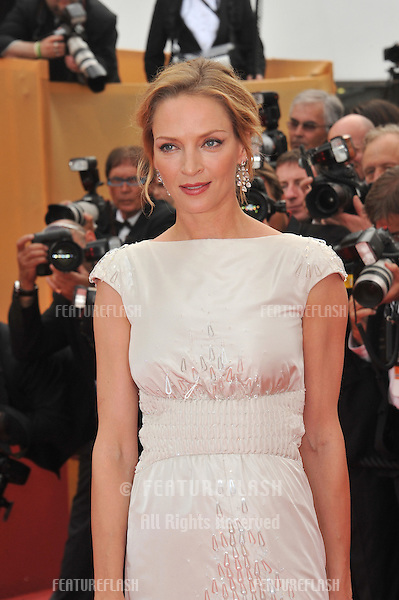 "Uma Thurman at the gala screening for ""Pirates of the Caribbean: On Stranger Tides"" at the 64th Festival de Cannes..May 14, 2011  Cannes, France.Picture: Paul Smith / Featureflash"