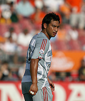 FC Dallas forward Carlos Ruiz (20).  Houston Dynamo defeated FC Dallas 1-0 during an MLS regular season match at Robertson Stadium in Houston, TX on August 19, 2007.