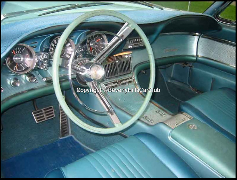 BNPS.co.uk (01202 558833)<br /> Pic: BeverlyHillsCarClub/BNPS<br /> <br /> ***Please Use Full Byline***<br /> <br /> The front interior of the car.<br /> <br /> A classic Ford Thunderbird car owned by late Clash frontman Joe Strummer has emerged for sale for a mystery sum.<br /> <br /> The rock legend bought the plush motor in 1987, splashing out just 4,200 dollars for it when he moved to the USA in the wake of the band's break-up.<br /> <br /> A huge fan of American cars, Strummer - the genius behind The Clash's biggest hits such as Rock the Casbah, London Calling and Should I Stay of Should I Go - drove the 1963 Thunderbird right up until his untimely death in 2002.<br /> <br /> Following Strummer's sudden death aged 50 from undiagnosed heart problems the car was passed to his publicist.<br /> <br /> The car, which has done 420 miles on its current engine, is now being sold on eBay by the California car dealers Beverly Hills Car Club.