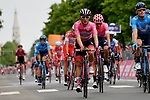 Maglia Rosa Valerio Conti (ITA) UAE Team Emirates crosses the finish line safely at the end of Stage 10 of the 2019 Giro d'Italia, running 145km from Ravenna to Modena, Italy. 21st May 2019<br /> Picture: Gian Mattia D'Alberto/LaPresse | Cyclefile<br /> <br /> All photos usage must carry mandatory copyright credit (© Cyclefile | Gian Mattia D'Alberto/LaPresse)