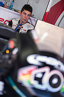 Maverik Viñales in his box at pre season winter test IRTA Moto3 & Moto2 at Ricardo Tormo circuit in Valencia (Spain), 11-12-13 February 2014