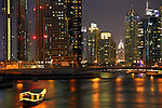 The night view of Dubai Marina. Dubai. Unite Arab Emirates