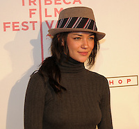 Jessica Szhor from the TV series Gossip Girl on the red Carpet at the Tribeca Film Festival 08
