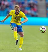 June 1th 2017, Ullevaal Stadion, Oslo, Norway; International Football Friendly 2018 football, Norway versus Sweden;  Oscar Hiljemark of Sweden in action