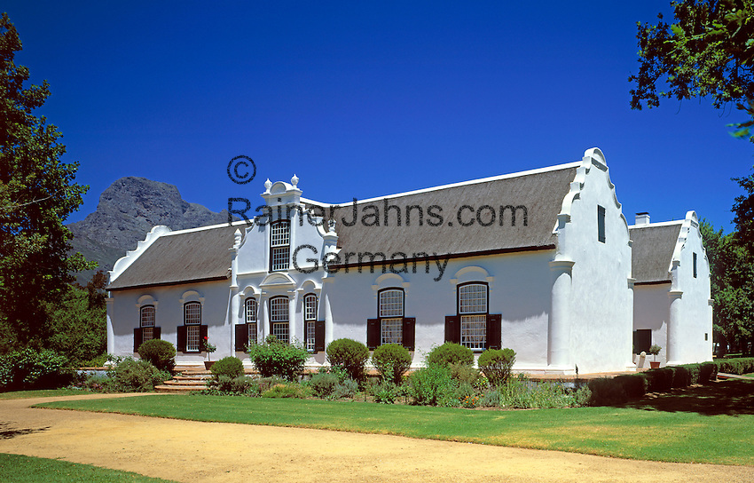 South Africa, near Cape Town, Winelands Franschhoek: Boschendal Manor House