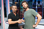 Spanish actors Damian Molla (L) and Juan Ibanez (R) during the presentation of the new season of the tv show · El Hormiguero · of Antena 3 channel. September 01, 2016. (ALTERPHOTOS/Rodrigo Jimenez)