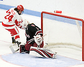 Taylor Holze (BU - 24), Laura Bellamy (Harvard - 1) - The Boston University Terriers defeated the Harvard University Crimson 5-2 on Monday, January 31, 2012, in the opening round of the 2012 Women's Beanpot at Walter Brown Arena in Boston, Massachusetts.
