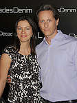 BEVERLY HILLS, CA. - November 02: Steven Weber (R) and wife Juliette Hohnen arrive at the Decades Of Denim Launch Party at a private residence on November 2, 2010 in Beverly Hills, California.