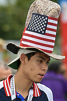 Houston, TX - Tuesday June 21, 2016: Fan prior to a Copa America Centenario semifinal match between United States (USA) and Argentina (ARG) at NRG Stadium.