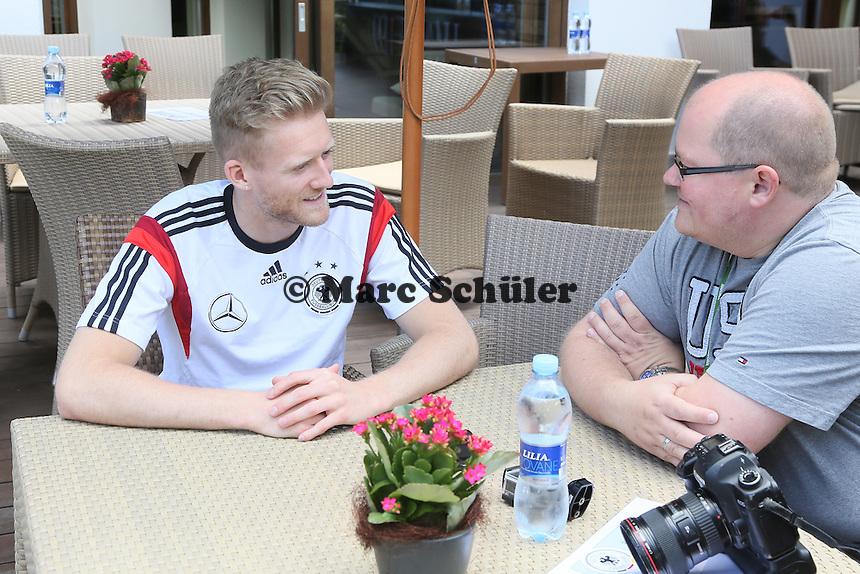 Andre Schürrle - Media Day der Deutschen Nationalmannschaft zur WM-Vorbereitung in St. Martin