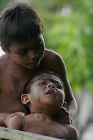 """Õndios Yawanawa festejam preservaÁ""""o da cultura dos antepassados na reserva nas margens do rio GregÛrio no territÛrio do municÌpio de Tarauac· no Acre"""