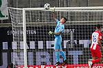 Kevin Müller / Mueller (1. FC Heidenheim 1846 #01)<br /> <br /> <br /> Sport: nphgm001: Fussball: 1. Bundesliga: Saison 19/20: Relegation 02; 1.FC Heidenheim vs SV Werder Bremen - 06.07.2020<br /> <br /> Foto: gumzmedia/nordphoto/POOL <br /> <br /> DFL regulations prohibit any use of photographs as image sequences and/or quasi-video.<br /> EDITORIAL USE ONLY<br /> National and international News-Agencies OUT.