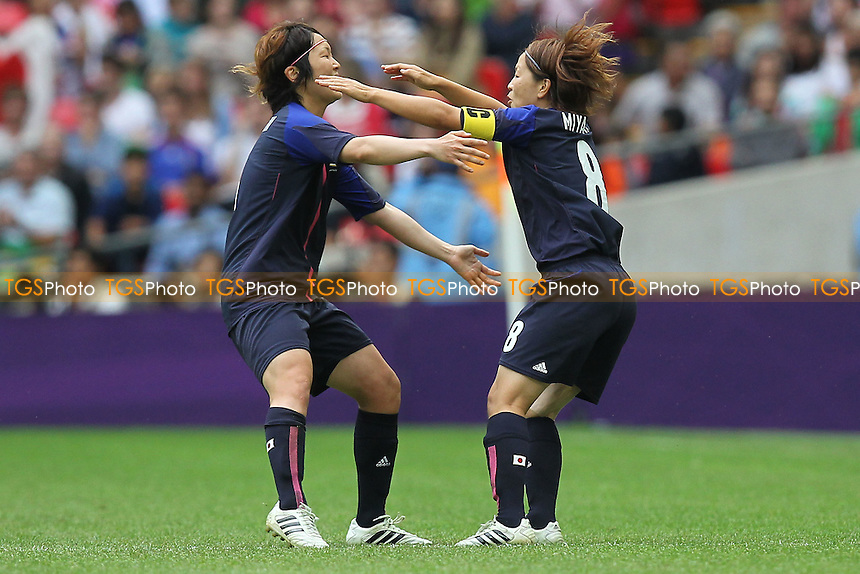 Mizuho SAKAGUCHI of Japan (6) scores the second goal and celebrates - France Women vs Japan Women - Womens Olympic Football Tournament London 2012 Semi-Final at Wembley Stadium - 06/08/12 - MANDATORY CREDIT: Gavin Ellis/SHEKICKS/TGSPHOTO - Self billing applies where appropriate - 0845 094 6026 - contact@tgsphoto.co.uk - NO UNPAID USE.